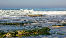 Morning surf on the Mediterranean sea Royalty Free Stock Image