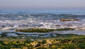 Morning surf on the Mediterranean sea Royalty Free Stock Photos
