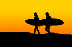 Morning Surfers Royalty Free Stock Photo