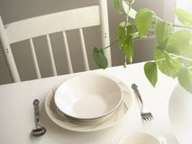 Morning Table Royalty Free Stock Photography