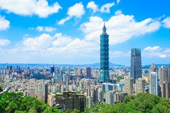 Taipei city panorama. Morning taipei city panorama in the taiwan royalty free stock photos
