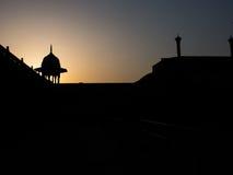 Morning of taj mahal fence. Morning silhouette at Taj Mahal fence. 7 wonders of asia Royalty Free Stock Images