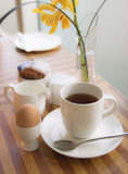 Morning tea. On the table Stock Photos