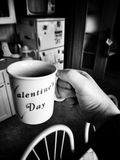 Morning tea. Artistic look in black and white. Royalty Free Stock Photography
