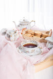 Morning tea concept. Stock Photo