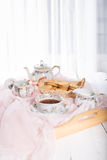 Morning tea concept. Royalty Free Stock Photography