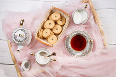 Morning tea concept. Royalty Free Stock Photo