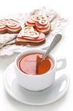 Morning tea and cookies Stock Images