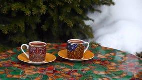 Morning tea cup spring season. Day light stock video