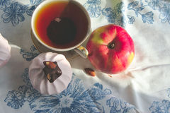 Morning tea with dessert Royalty Free Stock Photography