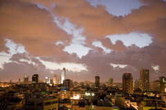 Morning in Tel Aviv. Early morning with clouds in Tel Aviv Stock Photography