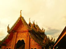 In the morning , Temples in Thailand Royalty Free Stock Images