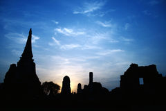 Morning in Thailand. The Dawn patrol in Ayutthaya Stock Photo