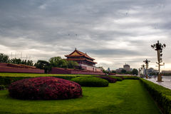 The morning in Tiananmen Stock Photo