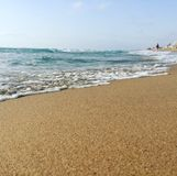 Morning tide. At guardamar de segura Alicante around 9am on a Saturday morning a little fishing village in the costa blanca Royalty Free Stock Photography