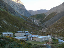 Morning in Tilicho base camp, Nepal Royalty Free Stock Photography