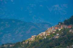 Darjeeling town view from high angle view shot Stock Image