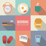 Morning time icons set Stock Photo