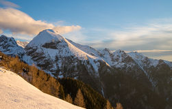 Morning time in Julian Alps Royalty Free Stock Images