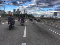 Morning Time in the Kuala Lumpur. People going to work by their vehicle on the highway Royalty Free Stock Photo