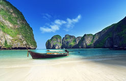 Morning time at  Maya bay, Phi Phi Leh island Royalty Free Stock Photos