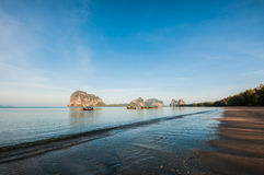 Morning time from Pak Meng Beach, Thailand Royalty Free Stock Photos