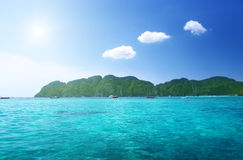 Morning time at  Phi Phi island Royalty Free Stock Photography