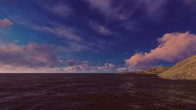 Morning time on the sea stock photography