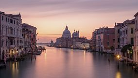 Morning timelapse of Venice Grand Canal