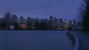 Coal Harbor Morning Timelapse, Vancouver 4K UHD stock video footage