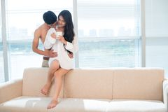 Morning together Stock Images