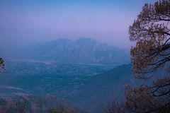 Morning from the top. View from the top of the vaishnodevi katra, jammu stock images