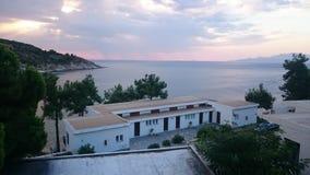 Morning at Tosca Beach. A morning view at Tosca beach at Kavala/Greece stock image