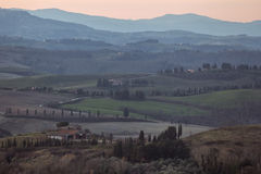 Morning in Toscana valley Stock Image