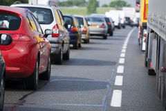 Morning traffic Stock Image