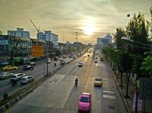 Morning traffic in Bangkok Stock Image