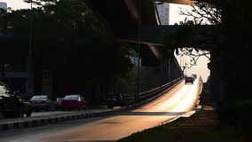 Morning traffic at bridge, Thailand. Morning traffic at bridge, Bangkok, Thailand stock video