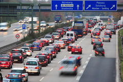 Morning traffic jam Stock Photography