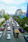 Shenzhen, China: Car congestion in Baoan Avenue Stock Photos