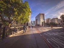 Morning traffic in London Stock Photos
