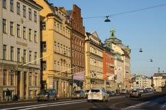Morning traffic in Stockholm, Sweden Stock Photo