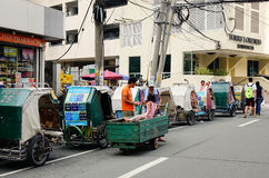 Morning traffic on the street in Manila Royalty Free Stock Photography