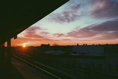 Morning commute. Ridgewood, NY Stock Photo