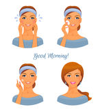 Morning treatments for skin Royalty Free Stock Image
