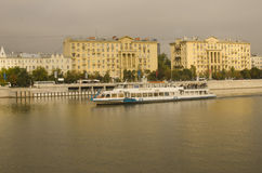 Morning trip, Moskva-river, Moscow, Russia Stock Images