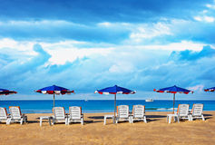 Morning on a tropical beach Royalty Free Stock Image