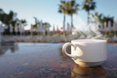 Morning in the tropical hotel Royalty Free Stock Photography