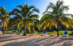Morning in tropical resort Stock Photo