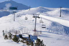 Morning on the turkish ski resort Royalty Free Stock Photography