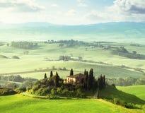 Morning in Tuscany, Italy Stock Photo